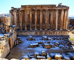 The temples of Baalbek, Lebanon